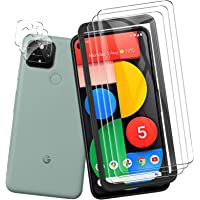 QITAYO for Google Pixel 5 Screen Protector and Camera Protector [3 Screen Protectors+2 Camera Protectors] Anti…
