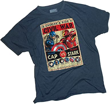 73691a50 Culmination Fight Poster -- Captain America: Civil War Adult T-Shirt, Small