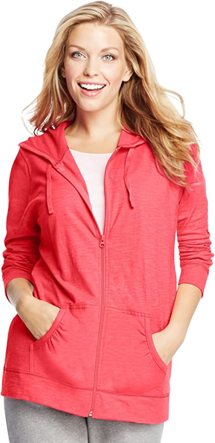 Just My Size Women's Full Zip Jersey Hoodie at Amazon Women's Clothing store