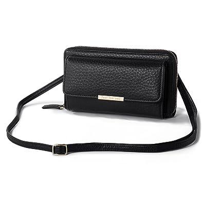 286cf62cdfa6 Crossbody Wallet Cellphone Purse for Women Clutch Handbag PU Leather Cross  Body Bag with Flap Multi