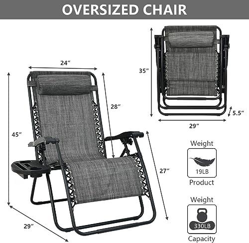 Best outdoor recliner: Patio Watcher Oversized Zero Gravity Chair Folding Recliner Chair