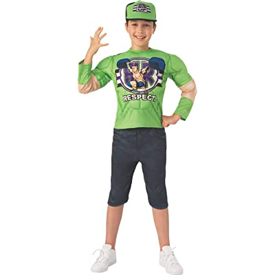 WWE John Cena Deluxe Halloween Youth Costume 2020: Toys & Games