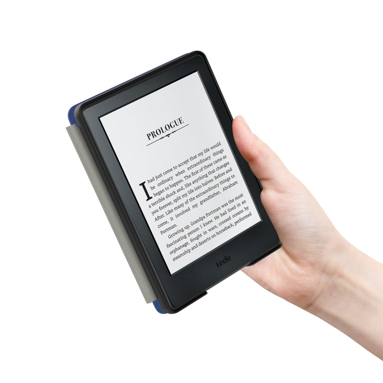 MoKo Funda para Kindle 8th Generaci/ón No es Compatible con el kinlde Paperwhite Funda de SmartShell M/ás Delgada y Ligera con Auto Sue/ño//Estela Bosque Azul
