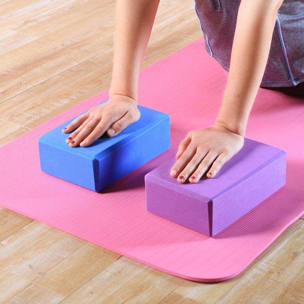 Yoga-Ziegelstein Yoga-Zubeh/ör Eva-Fitness-Schaum-Ziegelsteine