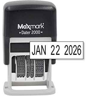 MaxMark Dater 2000 Self Inking Small Date Stamp With Black Ink