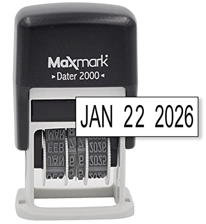 Amazon MaxMark Dater 2000 Self Inking Small Date Stamp With