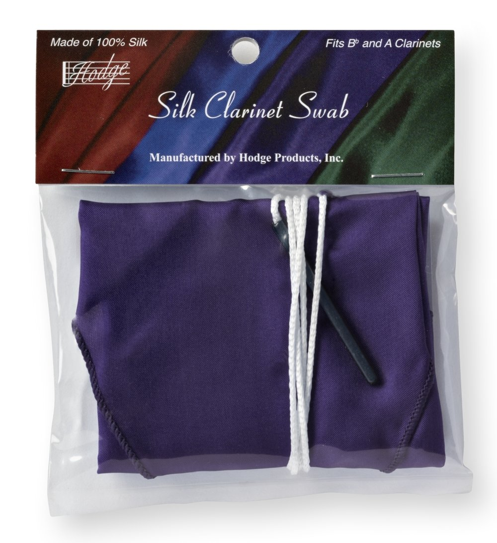 Hodge Silk Clarinet Swab - Purple
