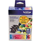 Brother Genuine High Yield Color Ink Cartridge, LC753PKS, Replacement 3 Pack Color Ink, Includes 1 Cartridge Each of Cyan, Ma