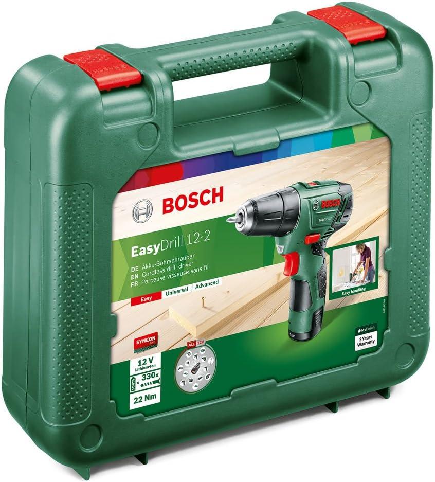 Bosch 060397290V EasyDrill Perceuse-visseuse sans fil  12-2  technologie Syneon avec batterie 12 V 2,5 Ah
