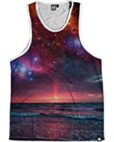 Into The AM Galaxy Print Men's Casual Sleeveless Tank Top Shirts