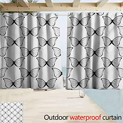 AndyTours Sliding Door Curtain,Spring Madam Butterfly Spiritual Wings  Victorian Feminine Mother Earth Freedom Design