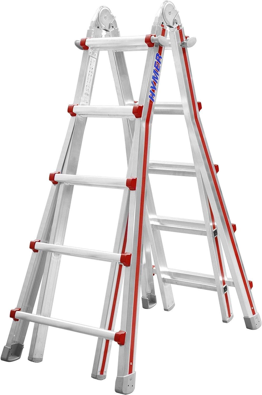 Hymer 404220 SC 40 Telestep - Escalera de mano (aluminio, 4 x 5 peldaños): Amazon.es: Bricolaje y herramientas