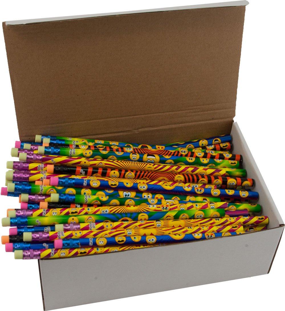 Smiley Face Pencils - Bulk Box of (144), 2 Lead