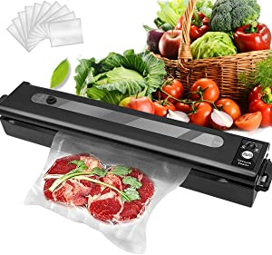 Aebor Vacuum Sealer Machine,Includes 15 Food Grade Bags,One-Touch Automatic Vacuum Sealing Machine for Food Preservation Storage Saver
