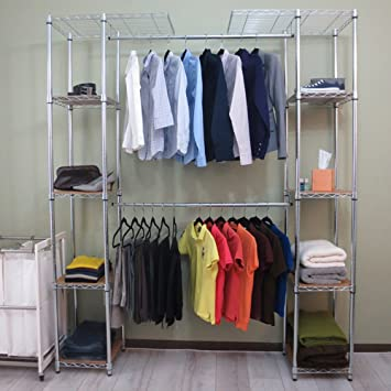 Good TRINITY Expandable Closet Organizer, Chrome