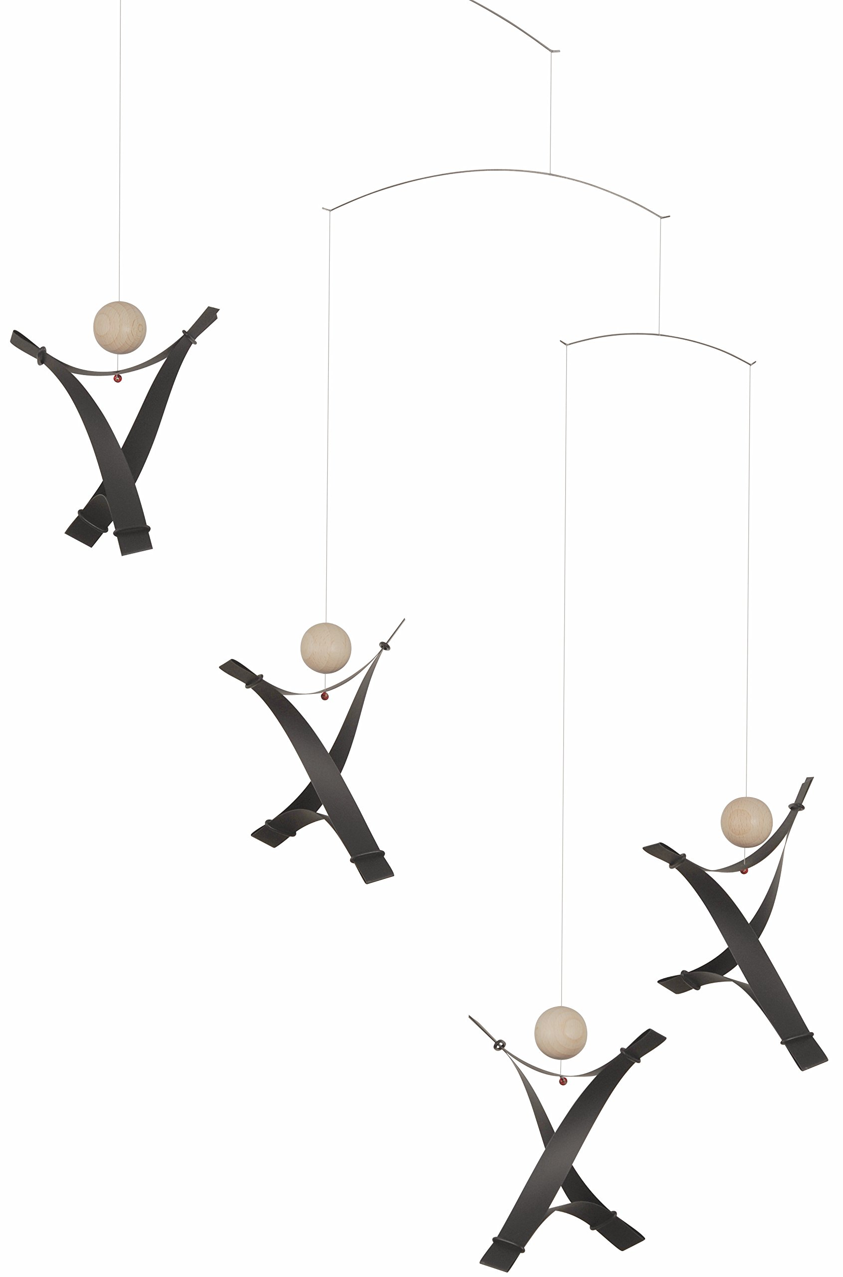 Free Minds Black Hanging Mobile - 17 Inches Plastic - Handmade in Denmark by Flensted
