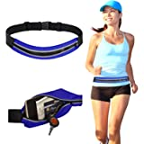 DMG Waterproof Running Belt Waist Pouch for Men + Women, Holds all iPhones / Smart Phones + Accessories, Completely Comfortable Running Belt for Travel, Hiking or Jogging