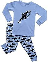 com elowel little boys shark fish piece pajama set  dinodee boys shark 2 piece pajama 100% cotton 2 10 years