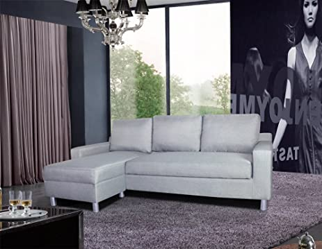 US Pride Furniture Kachy Fabric Convertible Sleeper Sectional Sofa Bed U0026  Facing Left Chaise,