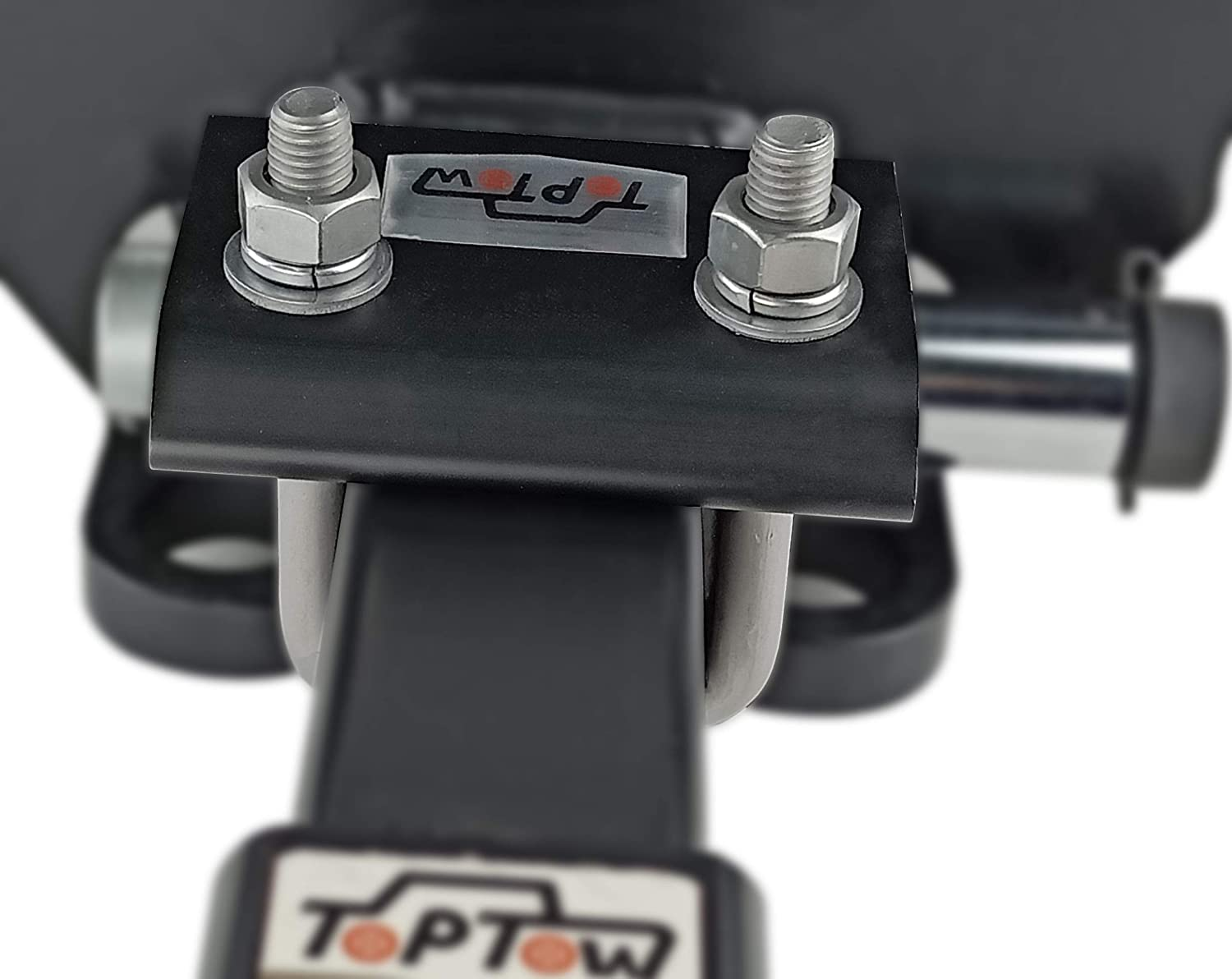 TOPTOW 64709 Trailer Hitch Tightener Anti Rattle Clamp for 1.25 Inch and 2 Inch Receiver Hitches 12 Packs Black Aluminum Stabilizer Plate