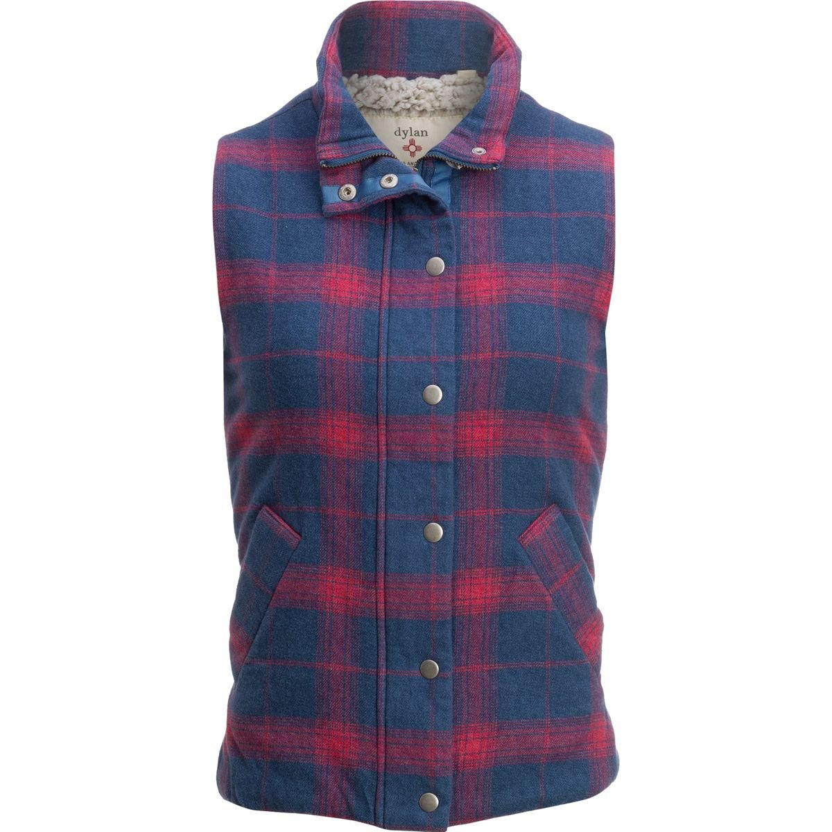 Dylan Melange Flannel & Frosty Tipped Classic Vest - Women's Blue/Red, M