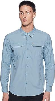 Columbia RidgeTM2.0 - Camisa de Manga Larga para Hombre, Color Plateado: Amazon.es: Ropa y accesorios