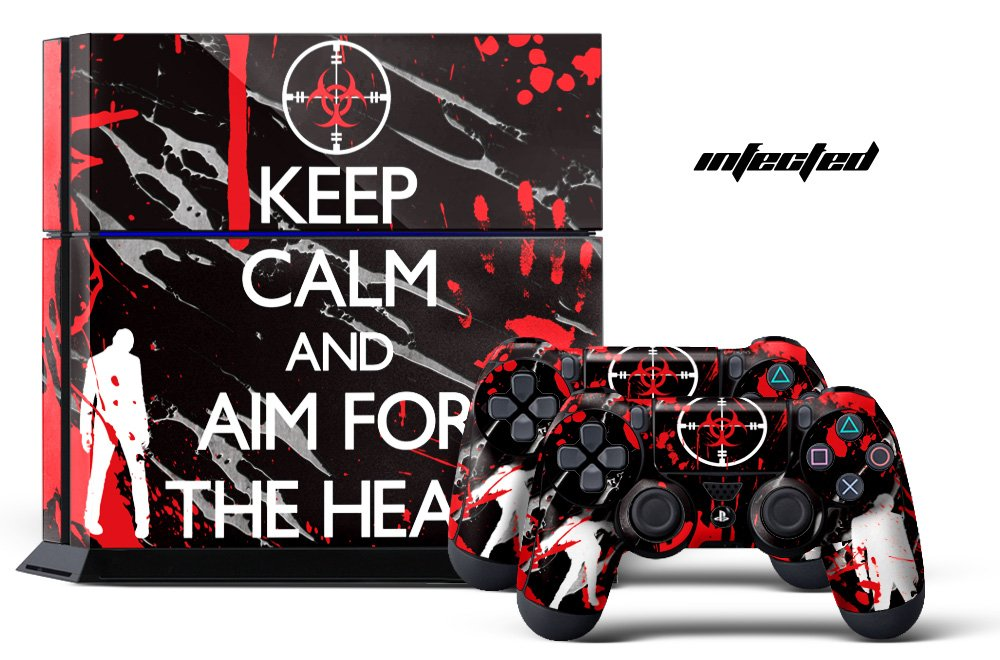 24*7 Skins PS4 Console + Controller Skin - Infected (B06XCVF8SL) Amazon Price History, Amazon Price Tracker