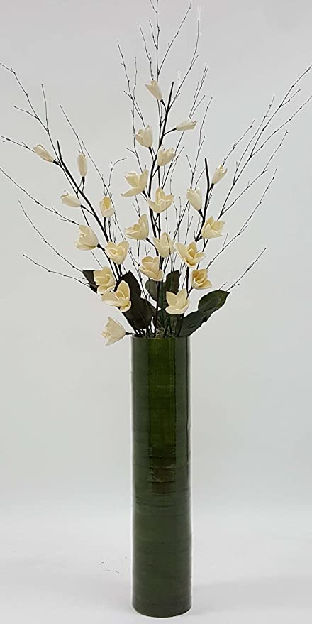 Amazon Green Floral Crafts 25 In Green Cylinder Tall Vase