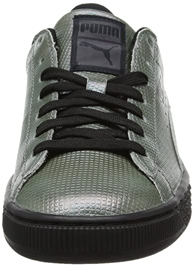 Unisex Adults Basket Classic Holographic Low-Top Sneakers, Silber Silver Puma