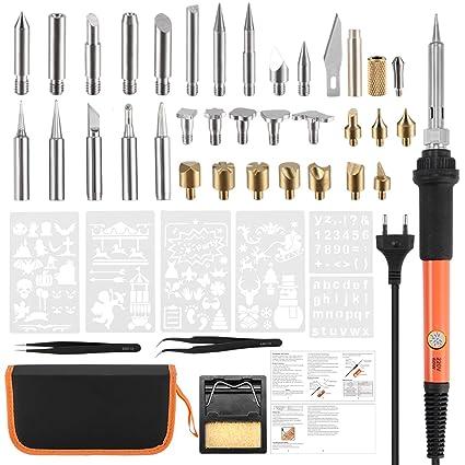 Winbang Hierro de Soldar eléctrico, Pluma Pyrography de la herramienta del kit de la quema