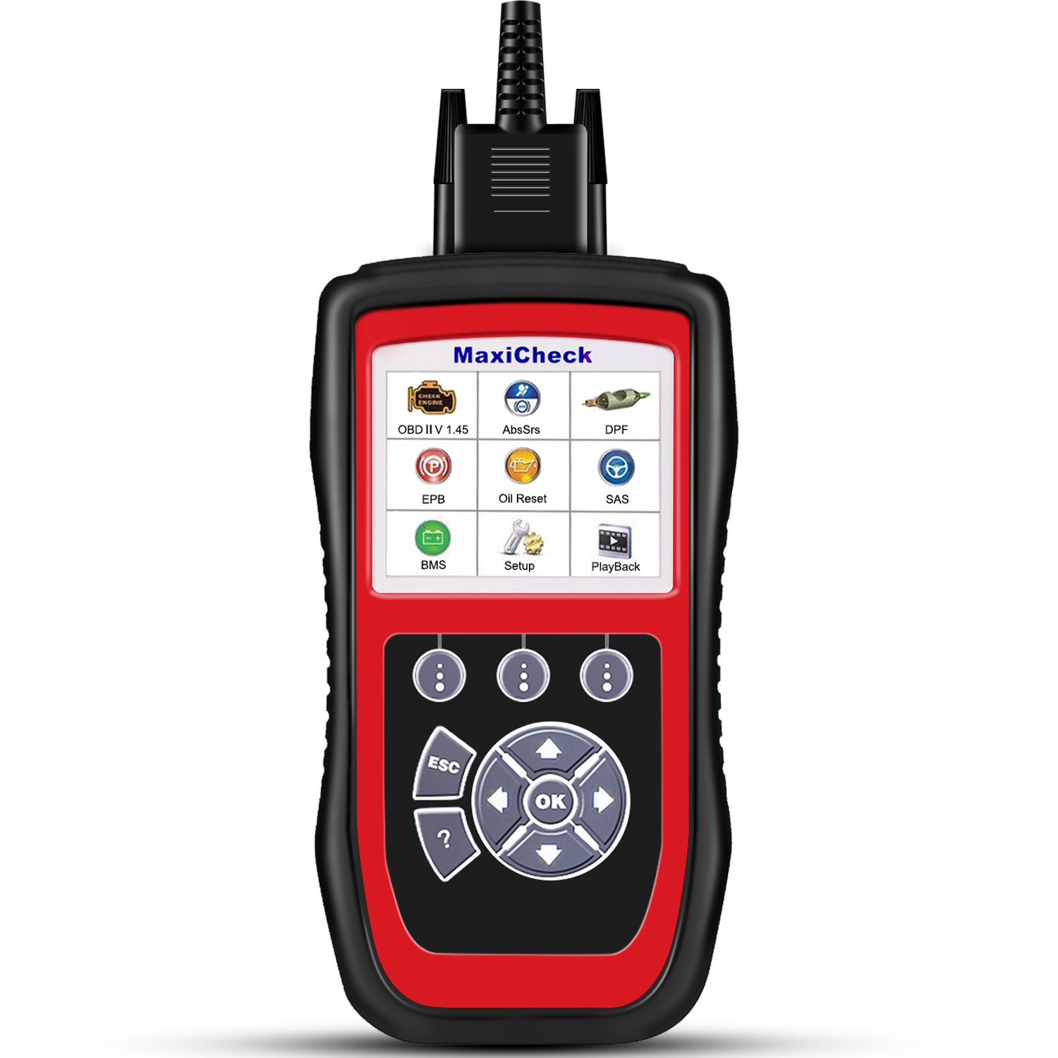 Autel MD802 OBD2/EOBD Scan Tool for Engine, Transmission, ABS, Airbag,EPB,Oil Service Reset