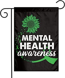 JING Garden Flags 12x18 Inch Mental Health Awareness Beautiful Personalized Patterns-Durable & Fade Resistant