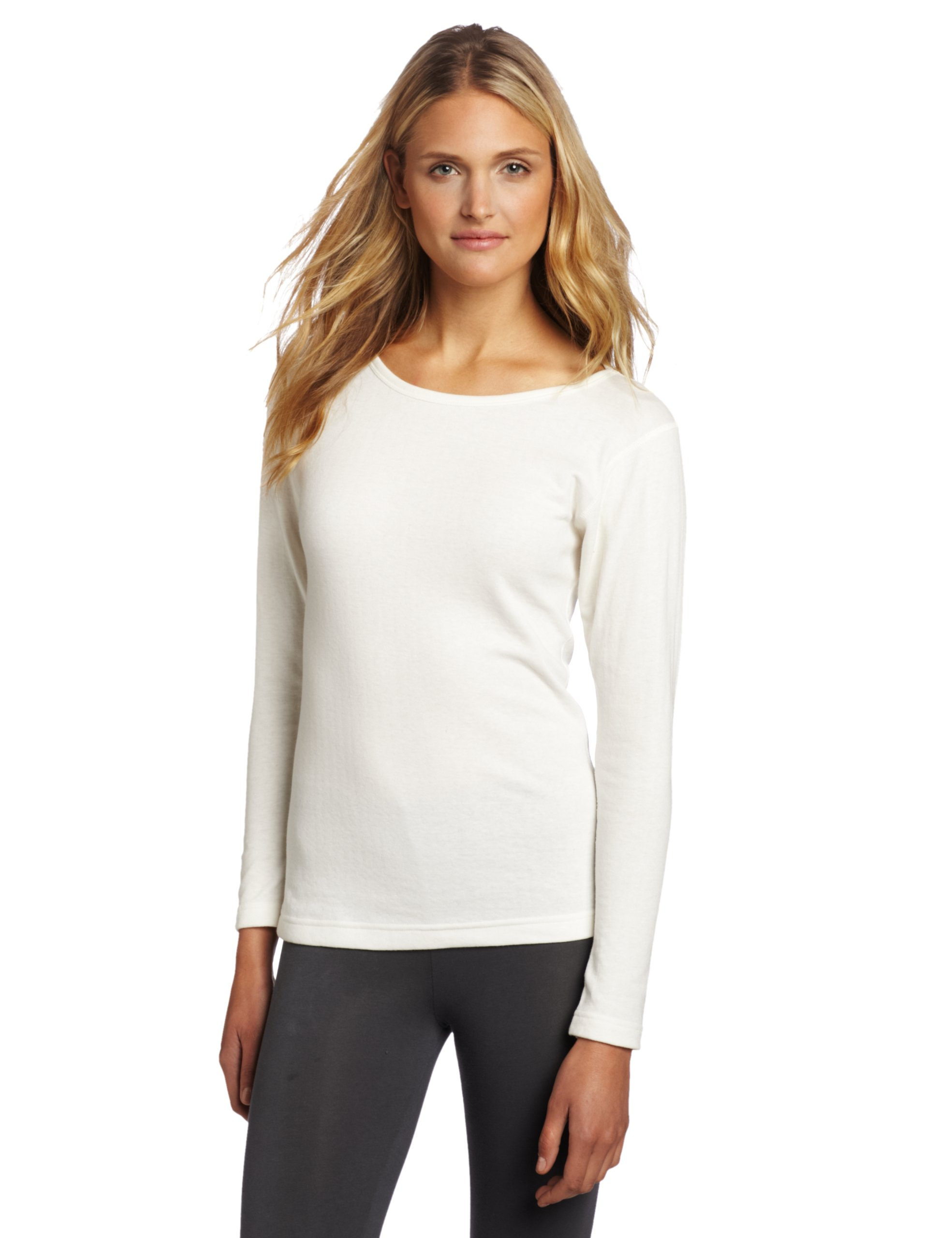 Duofold Women's Mid Weight Double Layer Thermal Shirt, Winter White, Large
