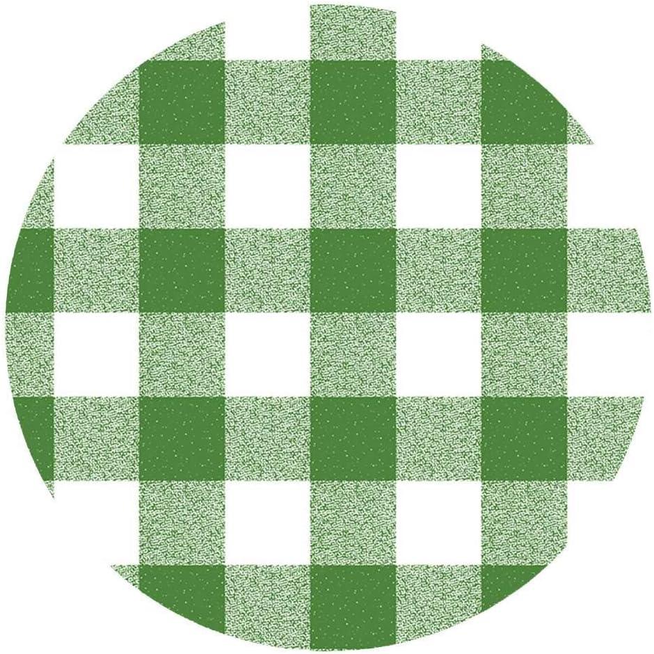 DecoHomeTextil Wachstuchtischdecke Wachstuch Tischdecke Gartentischdecke Rund Oval Granit Wei/ß Rund 80 cm abwaschbare Wachstischdecke