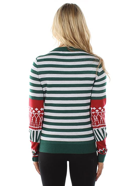 9712f8f4e366c2 Tipsy Elves Women's Christmas Stocking Tacky Sweater at Amazon Women's  Clothing store: