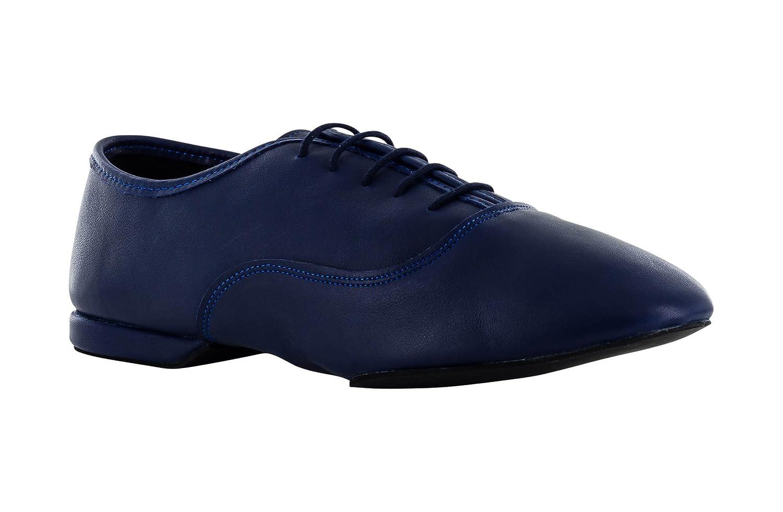 Zapatos de Baile Jazz EN Piel Azul con Suela Suela Suela Reducida Superflex, DRS by Vibram, Tacon 1 cm b0a738