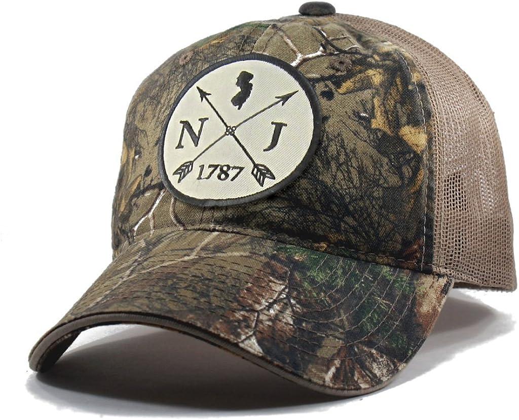 Homeland Tees Mens New Jersey Arrow Patch Camo Trucker Hat