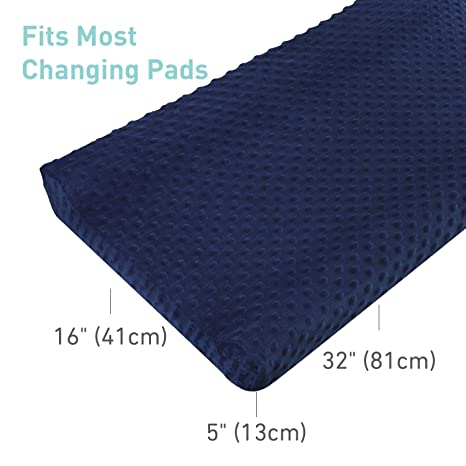Blue Changing Pad Cover Soft Breathable Changing Table Sheets Newborn Removable Diaper Changing Pad Cover