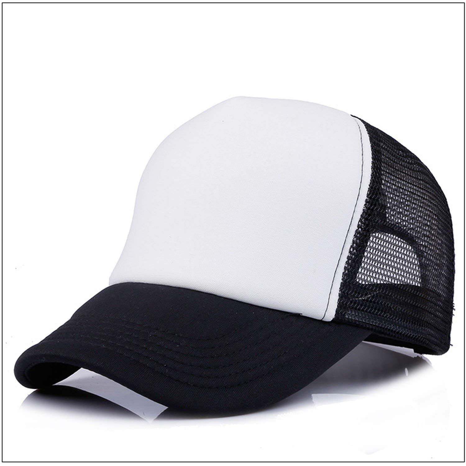 54-58cm Custom 100/% Polyester Baseball Cap Blank Mesh Adjustable Hat Adult Children Kids,02,Adult
