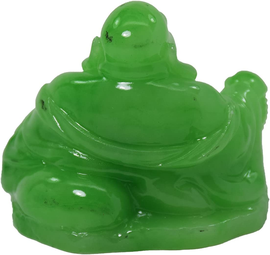 Feng Shui Buddha Jade Color Kunstharz Statue Happy Buddha Lachender Buddha Statue