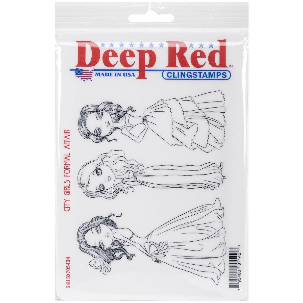 Deep 6-Inch-City Rojo Stamps Goma Cling X 6-Inch-City Deep Niñas Formal Affair cc5a6b
