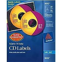 Avery Etiqueta Inkjet, CD 40 etiquetas y 80 lomos, blanco