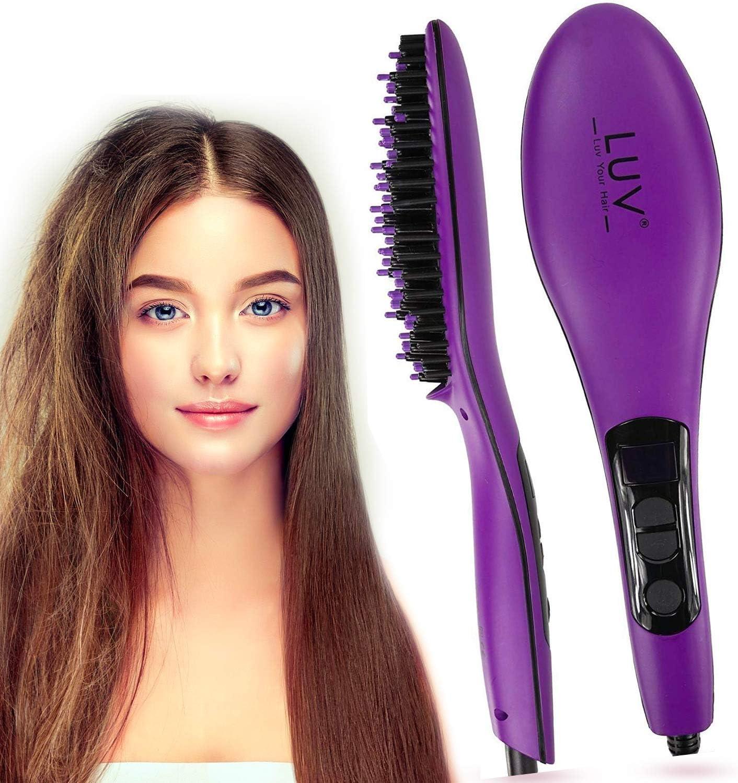 LUV - Cepillo alisador de pelo con tecnología antiestática ...