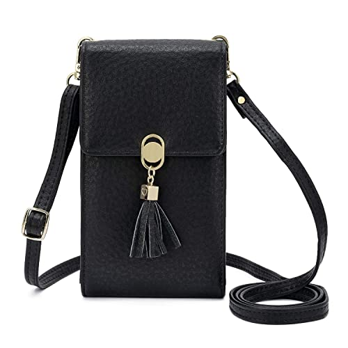 68e51d068e KOFNEKA Small Crossbody Bag Cell Phone Purse Wallet with Credit Card Slots  for Women (Black