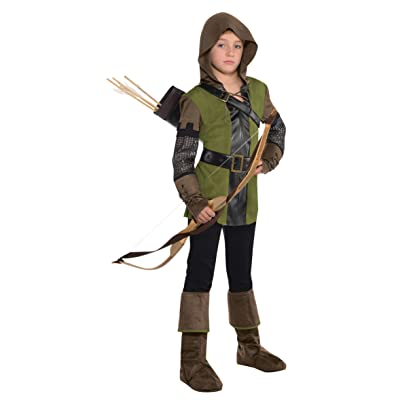 amscan Boys Prince of Thieves Robin Hood Costume - Medium (8-10): Toys & Games