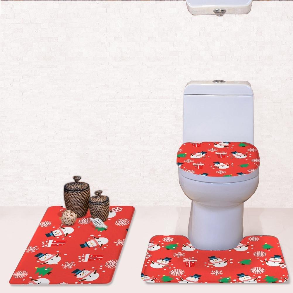LLW WC Abdeckungen Set Bad Matte Sets, Badematte + Pedestal Pedestal Pedestal Matte + WC Sitzbezug Matte [3 Teile Satz], A B07BP2DSS6 Duschmatten 753a9d