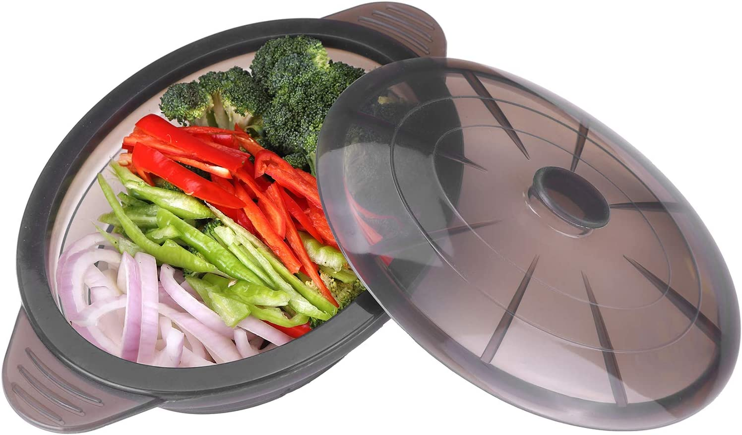 Silicon Steam Bowl Folding Bowl Microwave Steam Baking Bowl Roaster Red Color