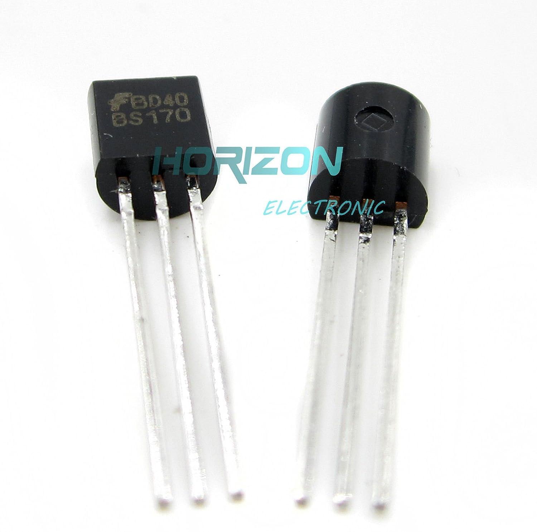 100 PCS BS170 MOSFET N-CH 60V 500MA TO-92 FSC NEW
