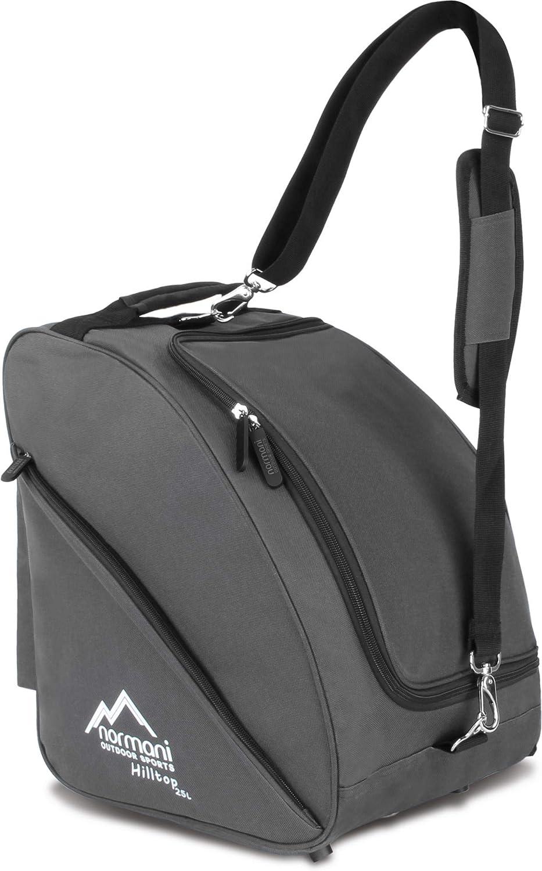 normani Skischuhtasche - Tasche für Skistiefel, 3 Equipmentseitentaschen und mit integriertem Adressfeld und gepolstertem Schultergurt
