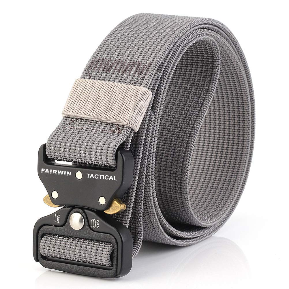 Fairwin Nylon Web Belt Plastic Metal Buckle Outdoor Casual Belt Men Women